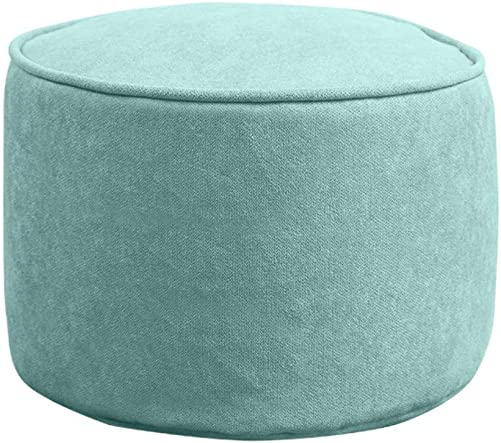 WT WT Round Solid Color Pouf,Breathable Removable Washable Comfort Soft Foot Stools Ottoman