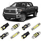 BRISHINE White LED Interior Light Kit for Toyota Tundra 2014 2015 2016 2017 2018 2019 2020 Super Bright 6000K Interior LED Bu