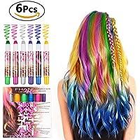 BATTOP Bright Hair Chalk Set 6 Pcs-Pen