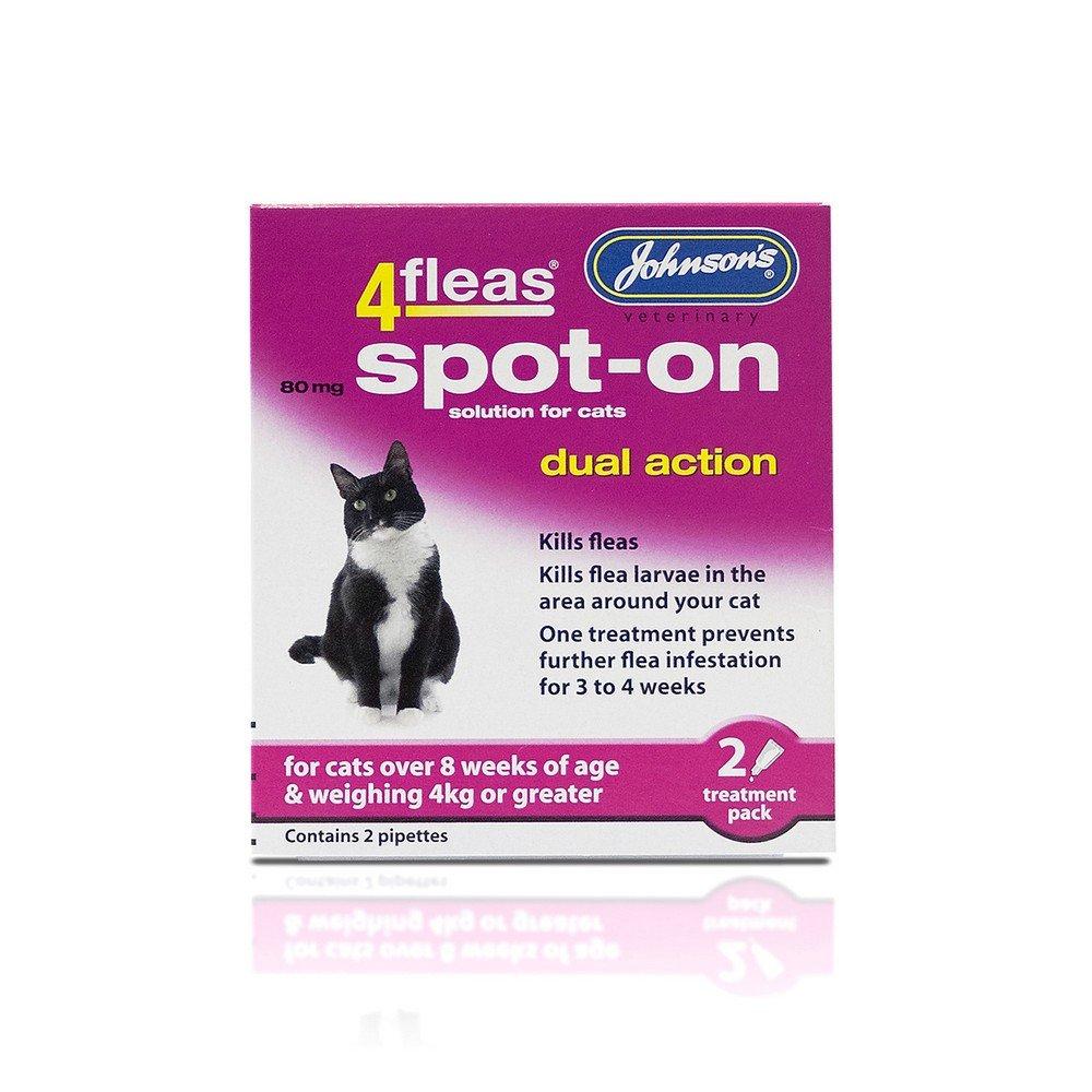 4fleas Spot-on Cat 2 Vial Pack (Pack of 6)