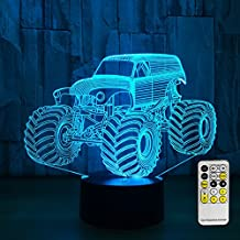 49dbb3e5e0aaa Night Lights for Kids Toy Tractor 3d Night Light Beside Lamp Help Kids Fell  Safe at Night Remote Control Adjustable 7 Colors
