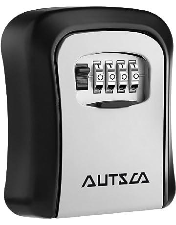 b68e12e4bf4 AUTSCA Boite à clé sécurisée Key Safe Rangement sécurisé Avec code  numérique à 4 chiffres