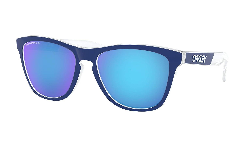 [オークリー] OAKLEY サングラス Frogskins Asia Fit フロッグスキン アジアンフィット (OO9245-8354~9454) [並行輸入品] フレーム: Polished Clear /レンズ: Sapphire Polarized