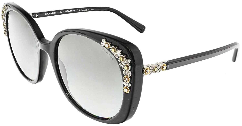c94958a32b010 ... greece amazon coach womens sunglasses hc8186 black brown acetate non  polarized 56mm coach clothing 10f7c 571fc