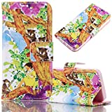 Samsung Galaxy S6 Case, Bonice Magnetic Snap Flip Standing Wallet Case Ultra Slim Antiscratch Shockproof Protective Cover-Pattern 10
