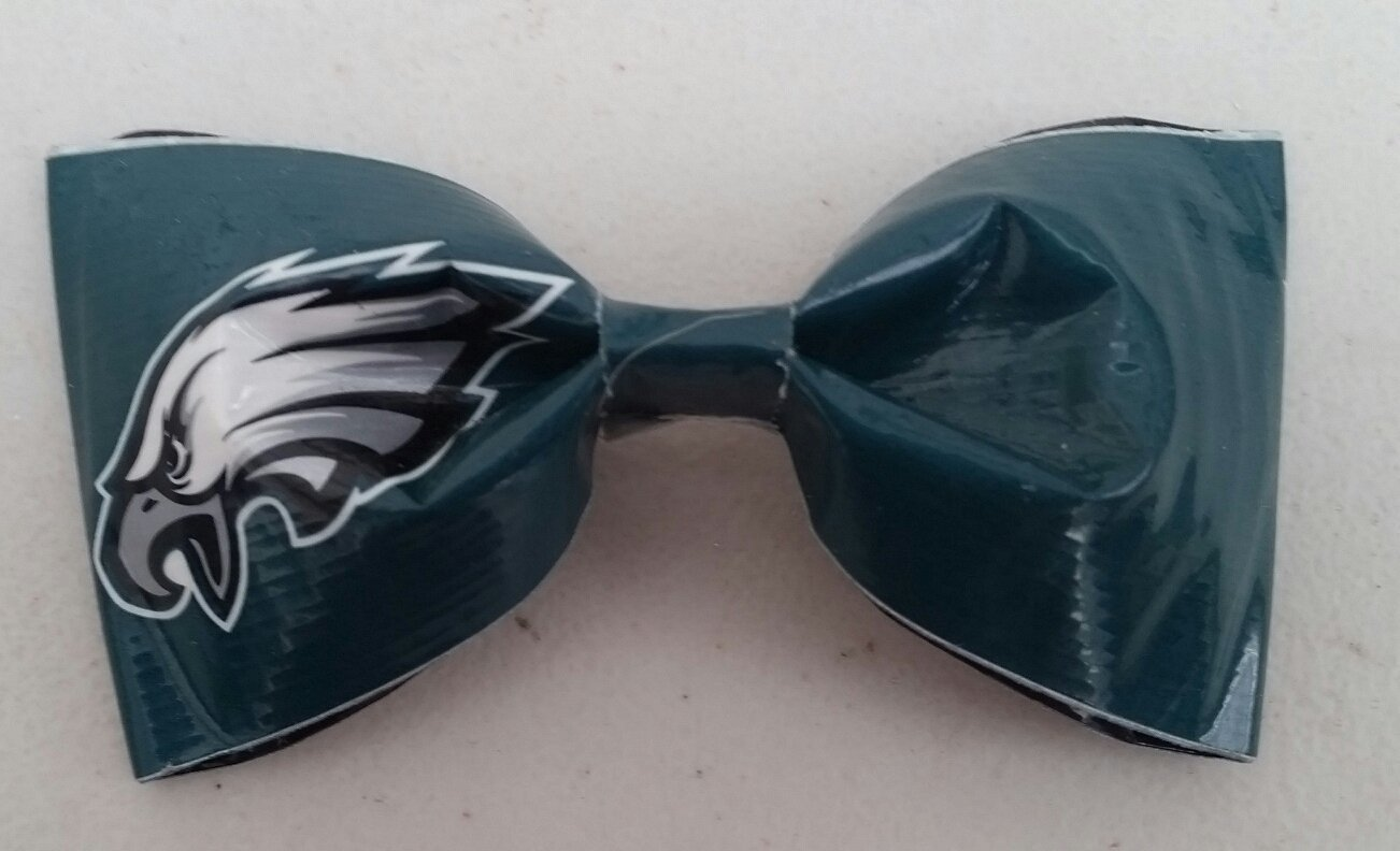Philadelphia Eagles NFL Bobby Pin Hair Bow or Bow Tie