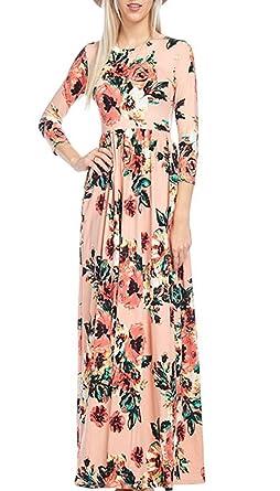 Pxmoda womens fashion spring 34 sleeve classic rose maxi dresses pxmoda womens fashion spring 38 sleeve classic rose maxi dresses pinksmall mightylinksfo