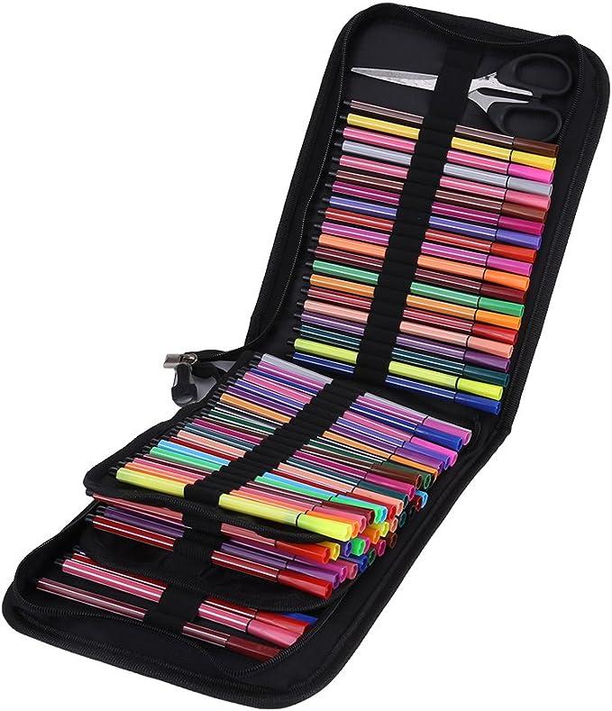 72/120 Slot Lienzo lápiz bolsa lápices de colores estuche Estuche Lápiz Buzón Gran Capacidad lápices de colores Funda para el colegio, Oficina, Viajes: Amazon.es: Oficina y papelería