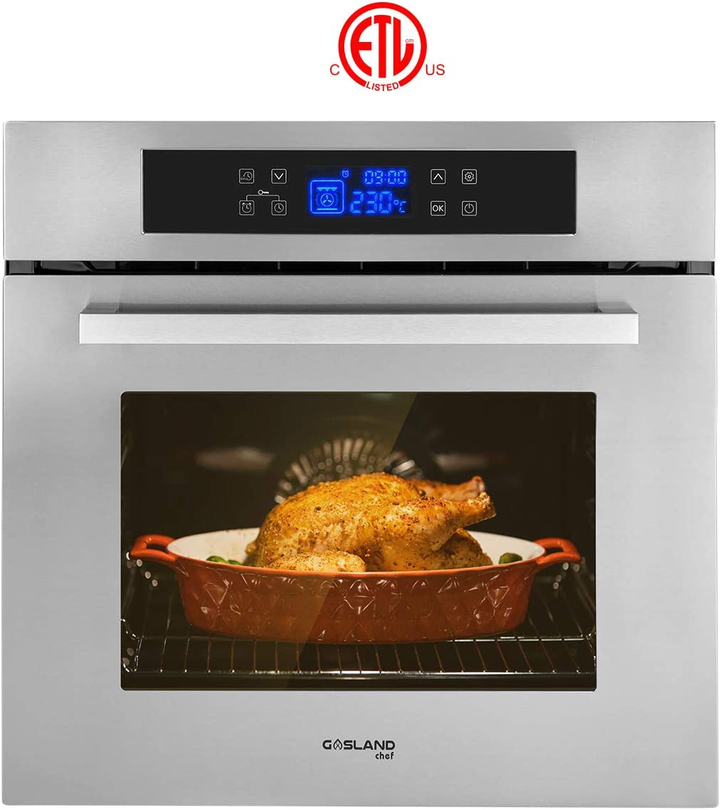 Single Wall Oven, GASLAND Chef ES611TS 24'' Built-in Electric Ovens
