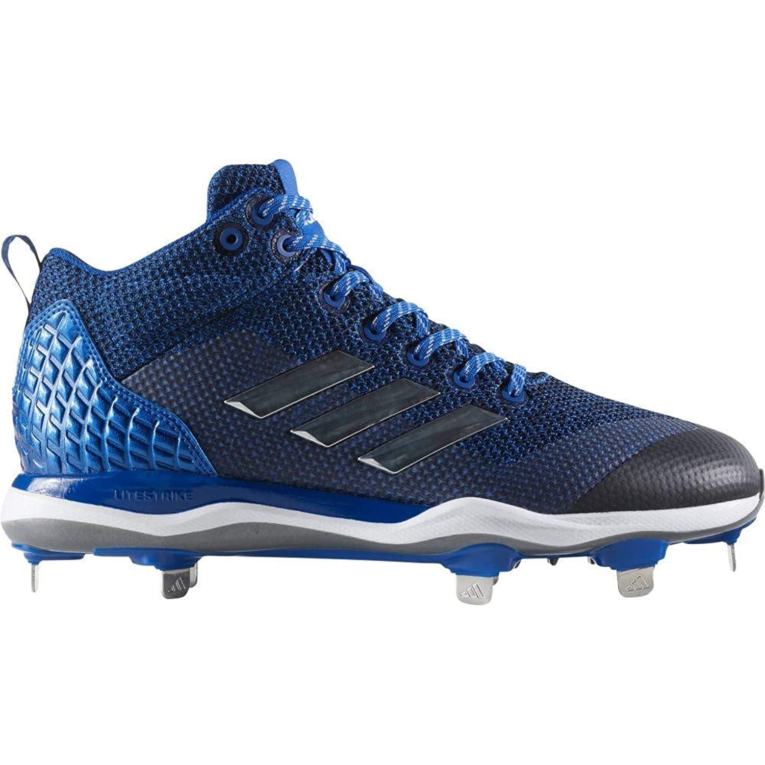 (アディダス) adidas メンズ 野球 シューズ靴 adidas Poweralley 5 Mid Metal Baseball Cleats [並行輸入品] B077XWWZQF 15.0-Medium