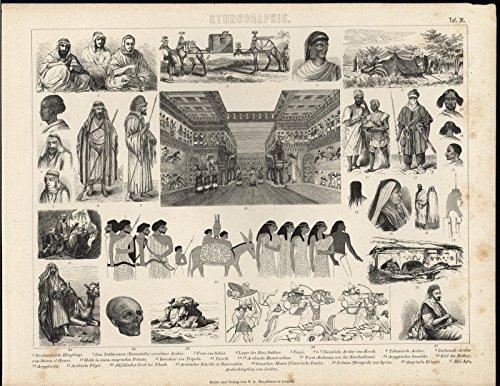 - Assyrian Hunting Party Egyptian Artwork Grandeur c.1870 antique engraved print