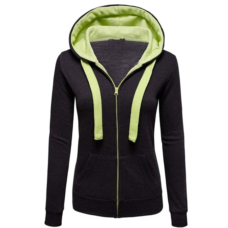 Desirca Hoodies Warm Winter Sweatshirt Women Pocket Zipper Long Sleeve Slim Plus Size Harajuku S40