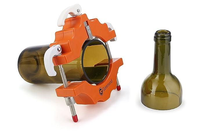 Cortadores de Botellas de Vidrio Redondo Cortadora vidrio Bottle Cutter - Naranja: Amazon.es: Bricolaje y herramientas