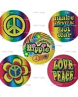 5pc Generation Hippie Button Set