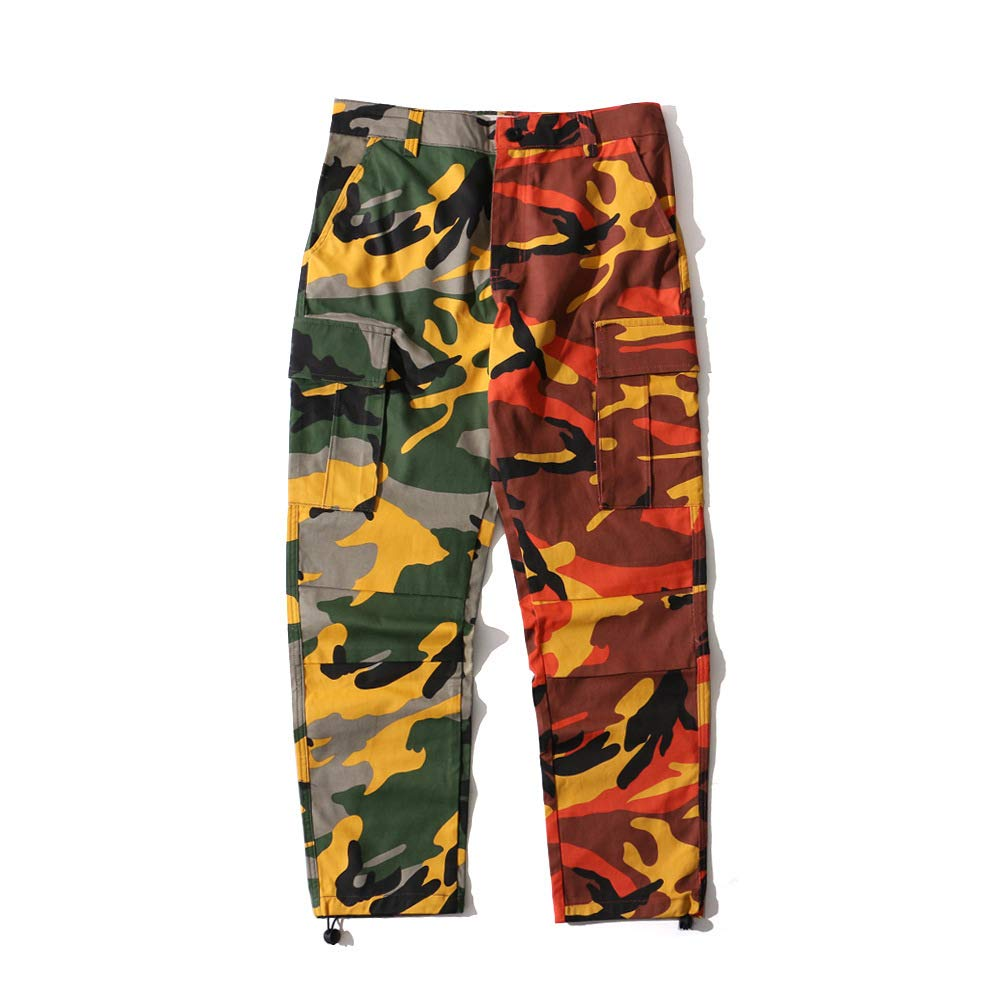 XWH Men& 039;s National Gezeiten Hosen Baumwolle Camouflage Overalls Männer beiläufige Hosen Männer und Frauen Sporthosen