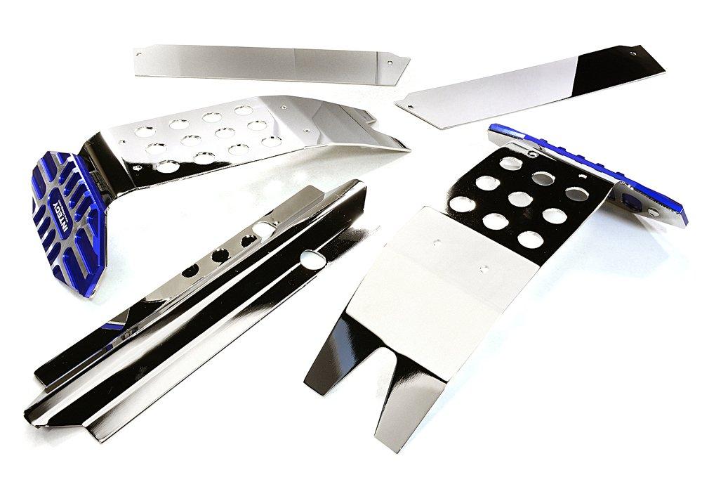 INTEGY RC C27189BLUE - Kit Completo de Placa de Metal para Traxxas X-Maxx 4X4