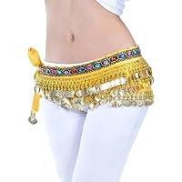 YuanDian Mujer coloreados Diamantes Monedas Danza del Vientre