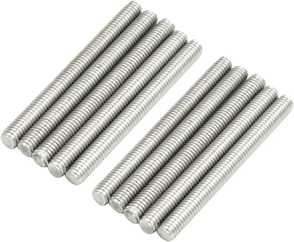 Mecion M8 x 200mm Stainless Steel Fully Threaded Rod Right Hand Threads 5Pcs