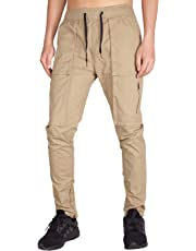 I.TALYMORN Men's Chino Cargo Pant Casual Slim Fit Multi Pockets
