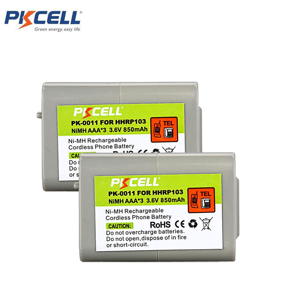 PKCELL HHR-P103 Cordless Phone Rechargeable battery AAA 850mAh 3.6V (3)