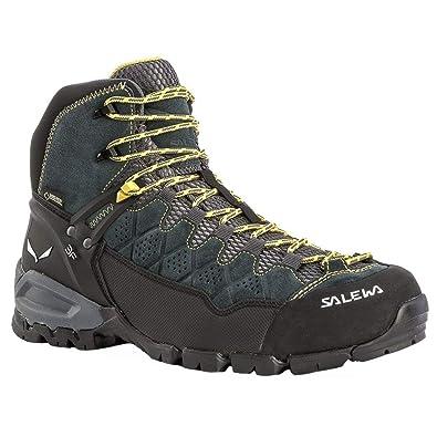 SALEWA ALP Trainer Mid GTX (Halbhoher Bergschuh Herren), Groesse 8 UK (42), Farbe-Salewa:Carbon/Ringlo: Amazon.es: Zapatos y complementos