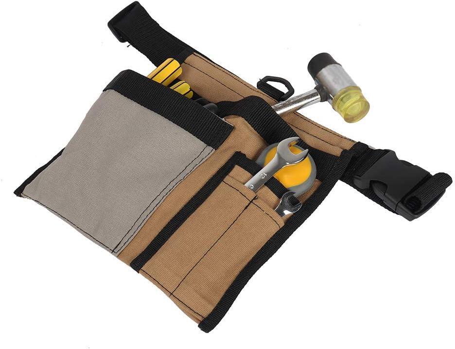 cintur/ón de trabajo bolsa para destornilladores bolso de cintur/ón de herramientas verde QEES Cintur/ón de herramientas de lona para hombres herramientas de trabajo y accesorios de madera