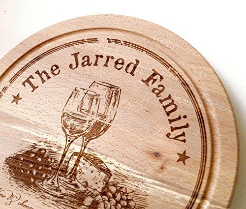 Personalized cutting board, custom cheese cutting board, round wooden serving board, chesse serving board, wedding, anniversary gift