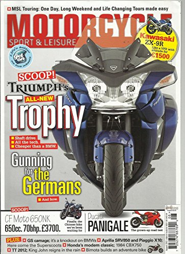 MOTORCYCLE SPORT & LEISURE, AUGUST, 2012 (TRIUMPH