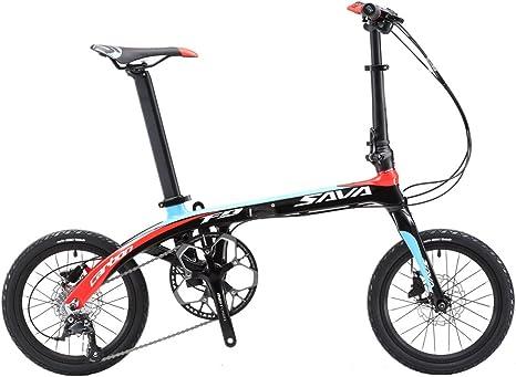 SAVADECK 16 Bicicleta Plegable Marco de Fibra de Carbono para ...