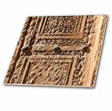 3dRose Danita Delimont - Ruins - Central Iran, Natanz, Jameh Mosque, Old Door - 6 Inch Glass Tile (ct_276845_6)