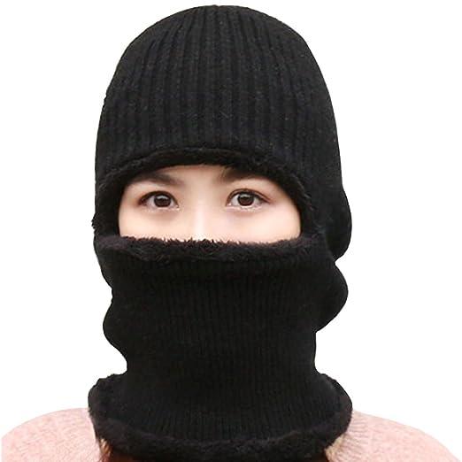 Lerben Womens Knitted Beanie Hat Warm Windproof Ski Face Mask Winter ... f4886a555b4