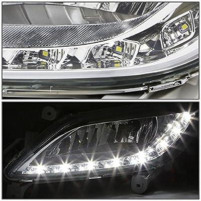 DNA MOTORING FLHV12LEDCH Driving Bumper Fog Lights Chrome [for 12-16 Veloster]: Automotive