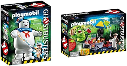 Playmobil 9222 Ghostbusters Slimer With Hot Dog Stand
