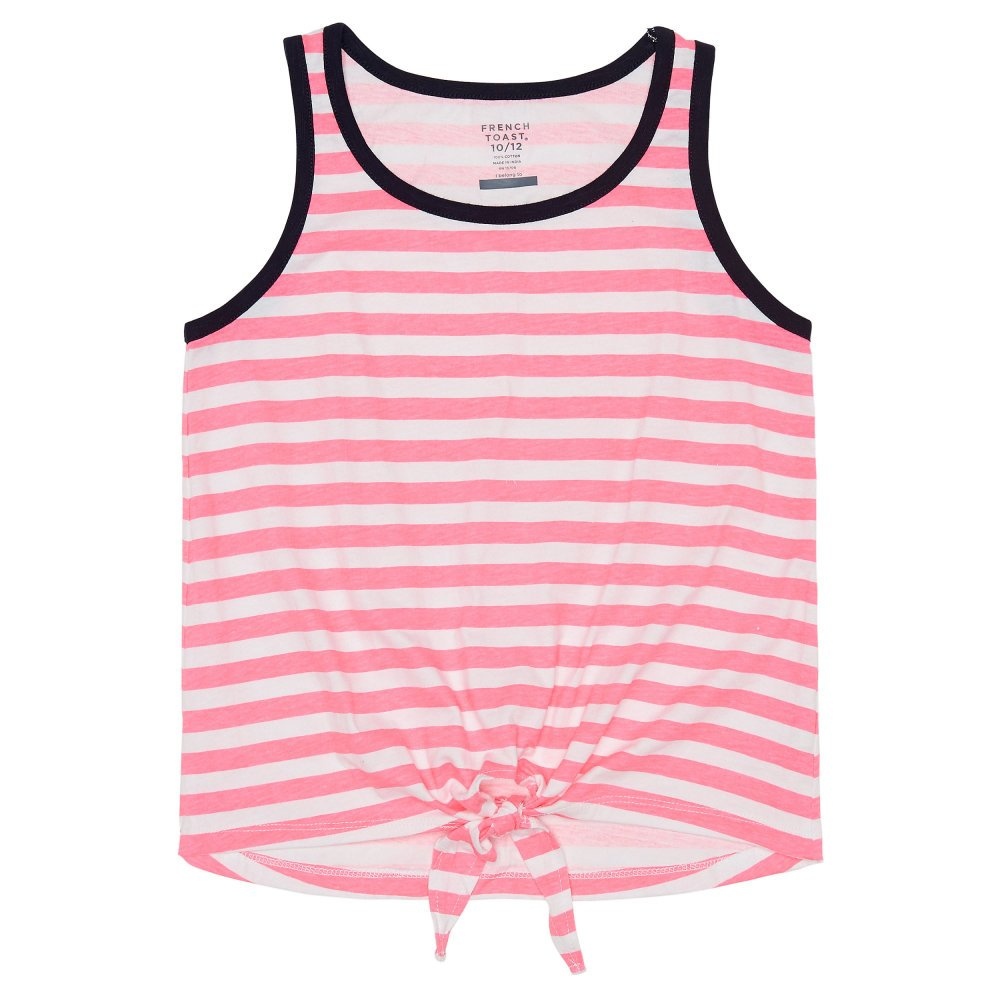 French Toast Girls' Tie Front Tank
