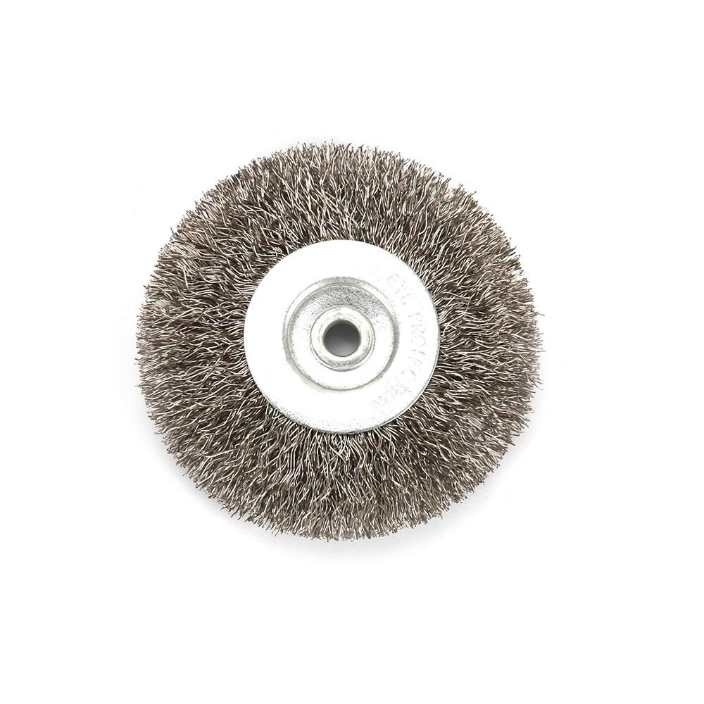 Stainless Steel Wire Wheel Brush 3'' - 10'' For Bench Grinder Polishing Abrasive Tool Metal Derusting 250mm Hole32mm
