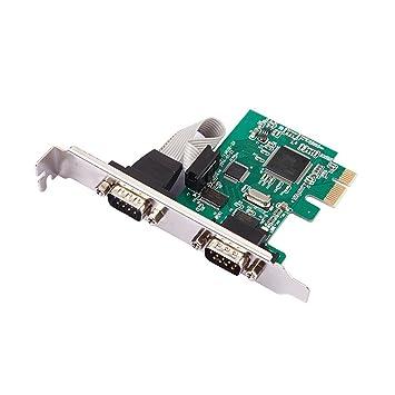 Huimai Puerto RS232 RS232 de 2 Puertos Serie COM a PCI-E ...