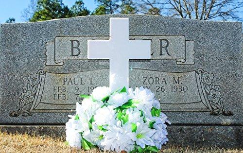 Eternal Light Solar Powered Cross For Cemetery Solar