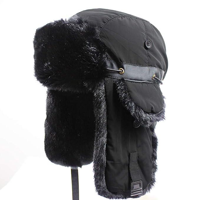 Outfly Ushanka Trapper Rusia Caza de Sombrero de Piel sintética Cap Earflap  Invierno 968514f722c