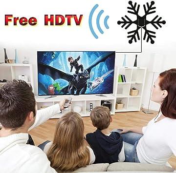 aheadad - Antena de televisión HD con alcance de 80 millas (8 millas) compatible con 4 K 1080p todos los televisores más antiguos para un amplificador de señal HDTV de alto rendimiento