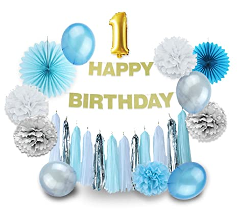 Boy 1st fiesta de cumpleaños para decoración de papel ...