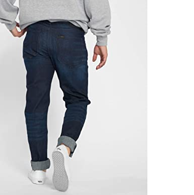 8889c976 Lee Men Jeans/Loose Fit Jeans Arvin Blue - 537449 W 33 L 34: Amazon.co.uk:  Clothing