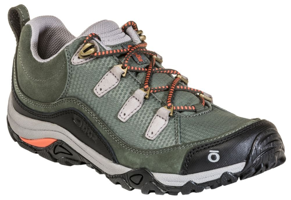 Oboz Juniper Low Hiking Shoe - Women's Thyme/Coral 10.5 by Oboz (Image #1)