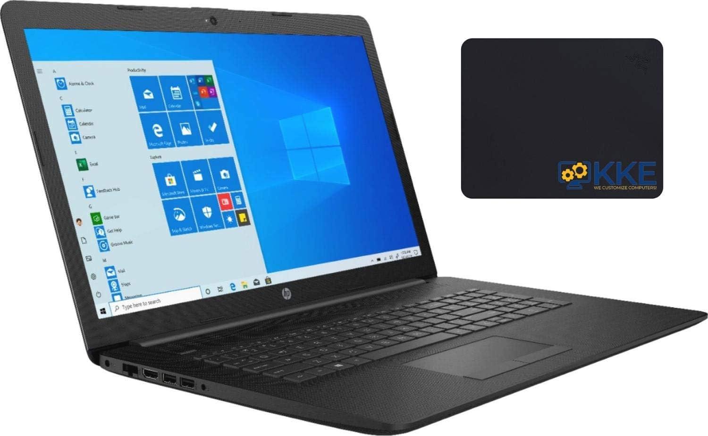 "2020 Newest HP 17.3"" HD+ Screen Laptop, 10th Gen Intel Core i5-1035G1 Quad-Core Processor up to 3.60GHz, DVD, HDMI, Wi-Fi, Windows 10 Home, Jet Black, KKE Mousepad (32GB RAM   1TB SSD)"