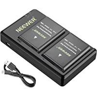 Neewer EN-EL14 EN-EL14A Battery Charger and 2-Pack Rechargeable Li-ion Batteries Compatible with Nikon D5600 D3300 D3500 D5100 D5500 D3100 D3200 D5200 D5300 Coolpix P7000 P7100 P7200 P7700 P7800