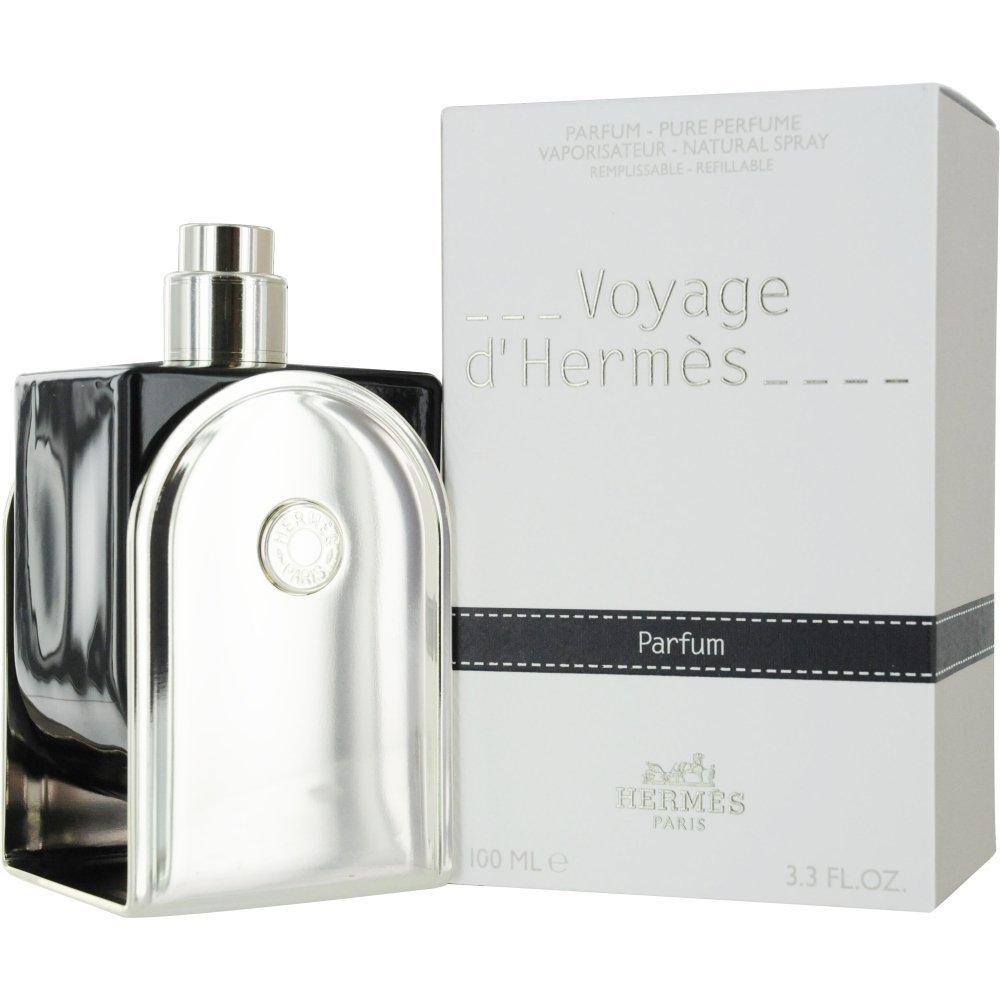 Hermes Voyage D'hermes Parfum Refillable Spray for Unisex, 3.3 Ounce