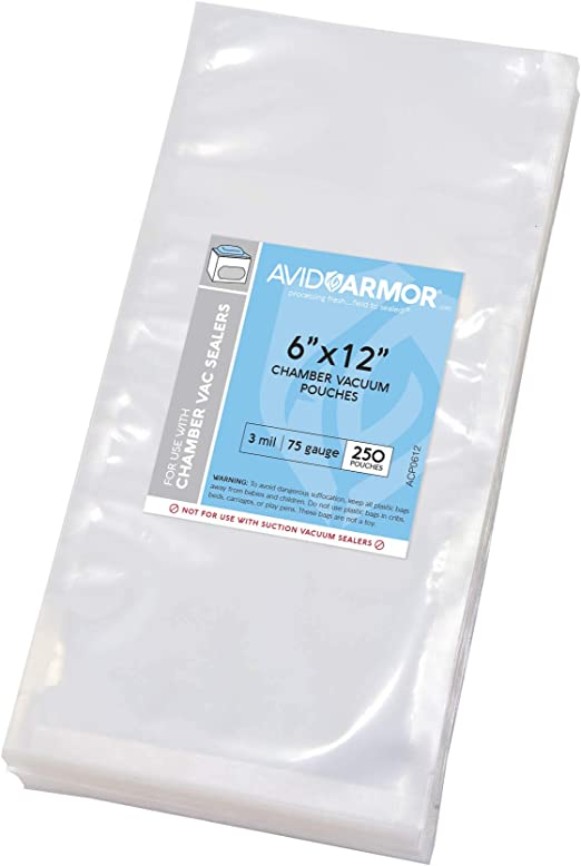 """100 12""""x16"""" Vacuum Seal Bags 3mil pouchs for vacuum chamber machine"""
