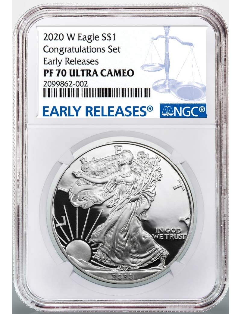2019-W 1 oz Silver American Eagle Congratulations Set PCGS PF 70 First Strike