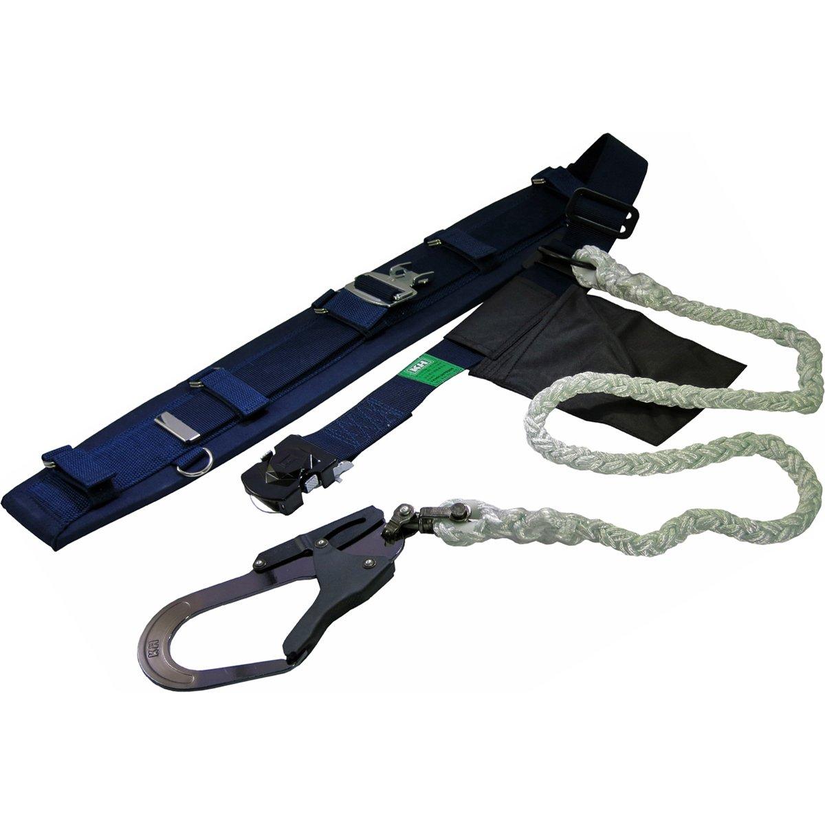 KH 安全帯 ロープ式 タフアルミ 自在環 アロッキー φ14 八ッ打 OD [落下防止 電気工事 高所での安全作業] B00GU49KOM