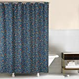 C&F Home, Williamsburg Wakefield Fabric Shower Curtain Blue, 72x72