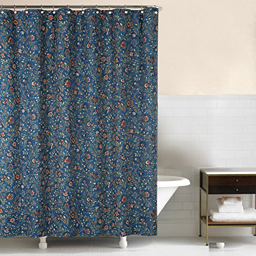 - C&F Home, Williamsburg Wakefield Fabric Shower Curtain Blue, 72x72
